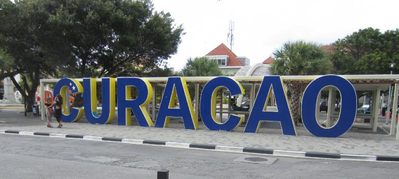 Curacao Sign downtown