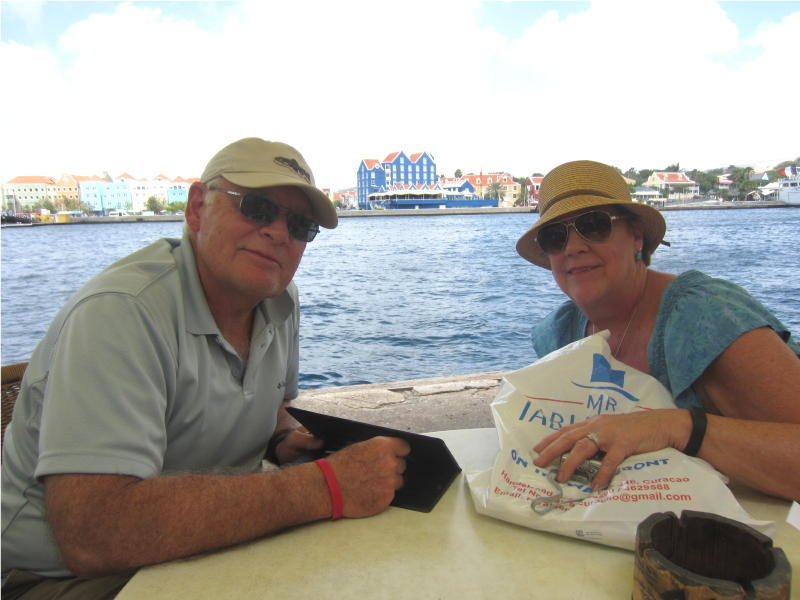 Dan & Ginny Curacao river bar