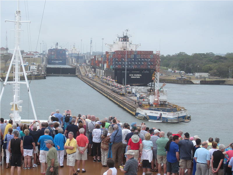 Entering Panama Canal   02 March 2015