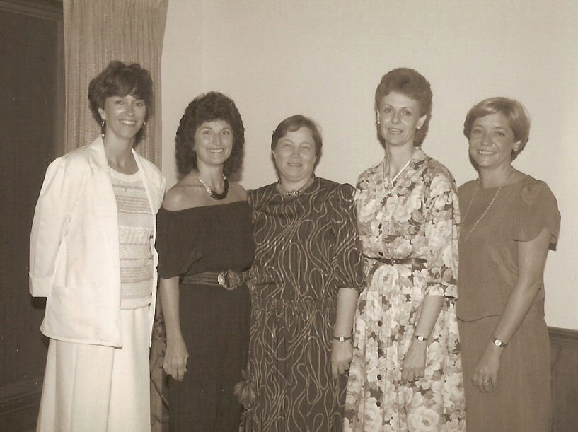 Peggy M  Barb Shafter Jan Martin Joan Witt Martha P